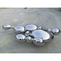 Wholesale Contemporary Large Abstract Sculpture , Stainless Steel Garden Ornaments Statues from china suppliers