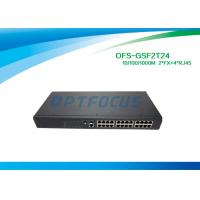 Wholesale 1310nm Single Mode Fiber Optic Switch 2 SFP 1000 BASE - Fx 24 10 / 100 / 1000 BASE - Tx from china suppliers