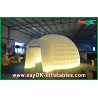 Wholesale Outdoor Wedding Inflatable Air Tent , Moblie Led Semicircle Inflatable Camping Tent from china suppliers