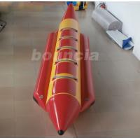 Wholesale Red 0.9 mm Thick PVC Tarpaulin Inflatable Banana Boat For Lake / Sea from china suppliers