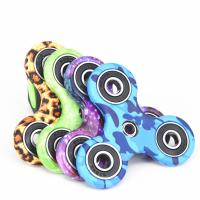 Wholesale New EDC Tri-Spinner Fidget Spinner Toys Camouflage Pattern Hand Spinner Plastic ADHD Adults Children Education from china suppliers