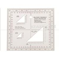 Wholesale Military Triangle Scale Protractor 11cmx11cm square set sandwich line printing for militry KMP-2 from china suppliers
