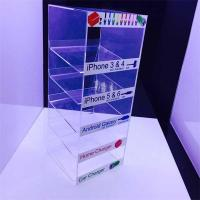 Wholesale Customized 5 tiers cell phone accessory acrylic cable display stand from china suppliers