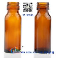 Quality amber glass bottle for syrup for sale