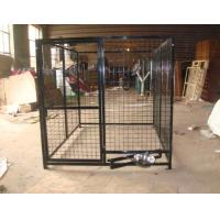 Wholesale outdoor temporary dog fence, pvc chain link dog kenel 1.5m x 1.8m x 1.8m free design to meet you idea to control dog from china suppliers