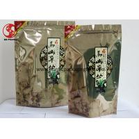Wholesale Leak Proof Aluminum Foil Lined Ziplock Stand Up Pouches for Food / Tea Packaging from china suppliers