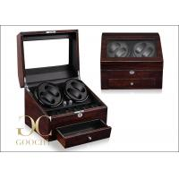 Wholesale PU Leather Brown Dual Watch Winder / Battery Powered Watch Winder from china suppliers