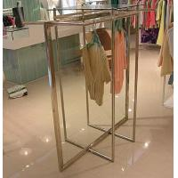 Wholesale Stainless Steel Clothes Display Hanging Rack Metal Clothes Stand With ODM / OEM Service from china suppliers