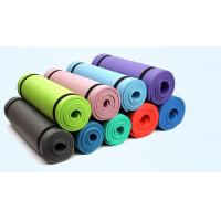 Wholesale high cushion extra thickness NBR yoga mat fitness mat with strap from china suppliers