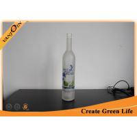 Wholesale Customized Frosted 750ml Wholesale Glass Wine Bottles For Vodka With Cork Neck from china suppliers