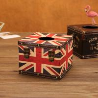 China European Vintage UK Flag Tissue Box Waterproof Home Hotel Facial Tissue Holder Decoration Style on sale