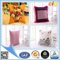 Buy cheap Shrink Resistant Printed Fashion Chair Seat Pillow / Decorative Cushion Covers With Polyester Filling from wholesalers