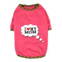 Wholesale Best Sell I Love My Mom/Dad Printed Dog Puppy Clothes Shirt Dress Pet Costumes from china suppliers