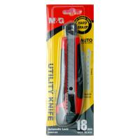 Quality Blister Card Retractable Utility Knife With Rubber Handle High Carbon Steel for sale