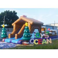 Wholesale Large Christmas Inflatable Playground Snowman Bounce Obstacle Course For Carnival from china suppliers