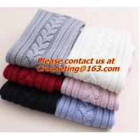 Wholesale Knit Grey Scarf,Custom acrylic knitted scarf, Knit Scarf, Fashion hand knitted wool shawl from china suppliers