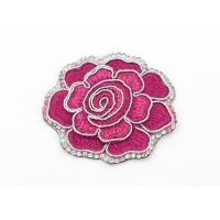 Quality Clothing Appliques Flower Embroidery Patches Peony Pattern Exquisite Elegant for sale