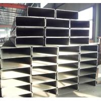 Quality Q195-Q345 Welded Rectangle Steel Tube, Rectangular Steel Pipe 3 - 30 Mm Thickness For Bridge Construction for sale