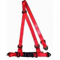 Wholesale Buckle Style Red Racing Safety Belts With Bolts / 3 Point Retractable Seat Belts from china suppliers