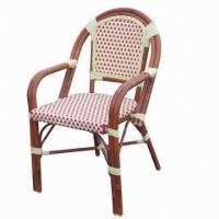Wholesale Restaurant Armchair with Aluminum Tube/Bamboo Looks/PE Rattan Woven-outdoor/Garden/Bistro from china suppliers