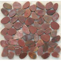 Wholesale red cut pebble tiles , red flat pebble tiles from china suppliers