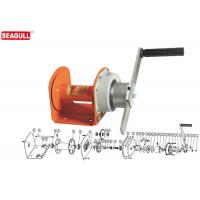 Wholesale Portable Mini Manual Hand Winch 1 Ton With 8mm Wire Rope / Orange Painting from china suppliers