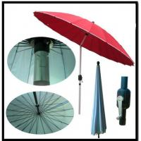 Wholesale Garden 2.5m Steel Wire Crank Large Patio Umbrellas / Patio Market Umbrella With Tilt from china suppliers