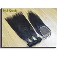 Wholesale Natural Black1b# Brazilian Remy Human Hair Extensions Can Be Curled , Dyed Healthy Ends from china suppliers