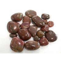 Wholesale red polished pebbles ,red river stones, red loose pebbles from china suppliers