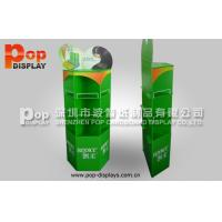 Wholesale Drink Cardboard Beverage Display Racks , 3 Shelves Fsdu With Unique Logo from china suppliers