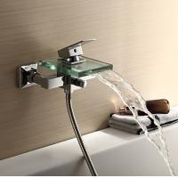 Wholesale Contemporary Waterfall Glass Spout Bathtub Faucet, FY-1210-02 from china suppliers