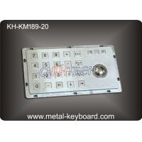Wholesale Rugged Kiosk Entry Keypad With Trackball , 24 Keys Stainless Steel Keypad from china suppliers