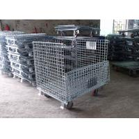 Wholesale Moveable Foldable Steel Wire Cage With Galvanized Surface Treatment For Storage from china suppliers
