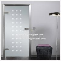 Wholesale China etching/sandblasted/acid etched glass for shower door/Sliding Glass Door from china suppliers