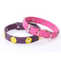 Wholesale 2012 new fashion dog collar with flower PU materia from china suppliers