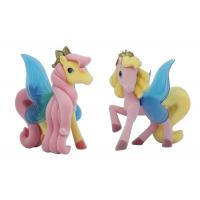 Quality Soft Non - Toxic Pvc Blue Wing My Little Pony Toys For Kids 8cm Height Long Tail for sale