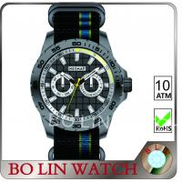 Wholesale Two Sub - Dials Carbon Fiber Mens Watch Mutil - Funtional Colorful Straps from china suppliers