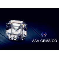 Wholesale OEM Colorless Asscher Cut Moissanite 10mm Hardness 9.2 To 9.5 from china suppliers