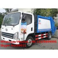 Wholesale 2017s best seller FAW 4x2 garbage compactor truck for sale, Factory sale High quality FAW brand compacted garbage truck from china suppliers