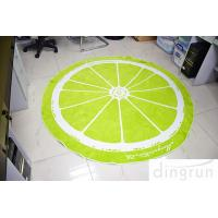 Wholesale Jacquard Round Beach Towels Luxury Size Lemon Lolor 180*180cm from china suppliers