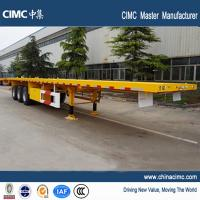 Wholesale tri-axle 40 foot flat bed semi trailers with container locks from china suppliers