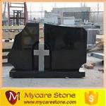 Wholesale customized design hebei black cross tombstone from china suppliers