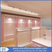 Wholesale Factory OEM Supplier mdf  wooden  in pink white lacquer Baby Girl Clothing Stores display furnitures from china suppliers