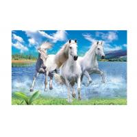 Wholesale Runnig Horse 3D Lenticular Pictures For House Decorative 0.6mmPET from china suppliers