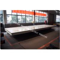 Buy cheap Battery power rail flat car rail transport car 30ton load capacity 48V voltage DC large load table from wholesalers