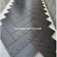 Wholesale High-end customized White Oak Parquet Herringbone (stained wenge color) from china suppliers