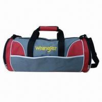 Buy cheap 600D Polyester Duffel Bag for Travel, with Adjustable Shoulder Strap, Measuring from wholesalers