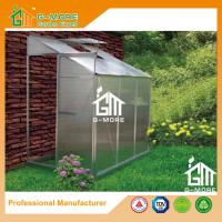 Wholesale 6'x4'x6.7'FT Silver Color Single Door Wall Lean-To Series Garden Greenhouse from china suppliers