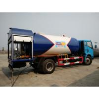 Wholesale HOWO 4X2 12000 Liters LPG Gas Truck , 12cbm 6 Tons Bobtail Propane Truck from china suppliers
