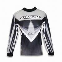 Wholesale Cycling Jersey, Made of Flocked Polyester, Sublimation Printed Panels and Logos from china suppliers